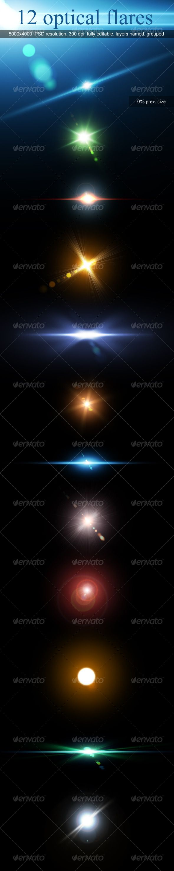 12 Optical Flares by M3-f-web on DeviantArt