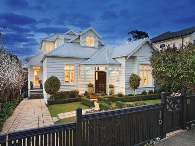 lovely weatherboard home, Glen Iris, Victoria.