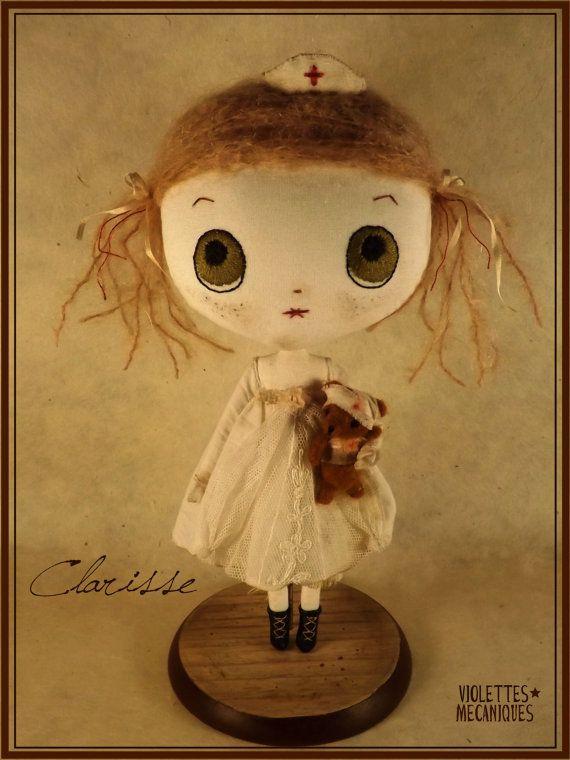 Clarisse, OOAK cloth doll