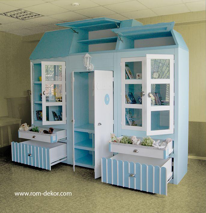 Детский шкаф-домик «Kate» с подсветкой (№- ID073) | R.O.M.-Dekor
