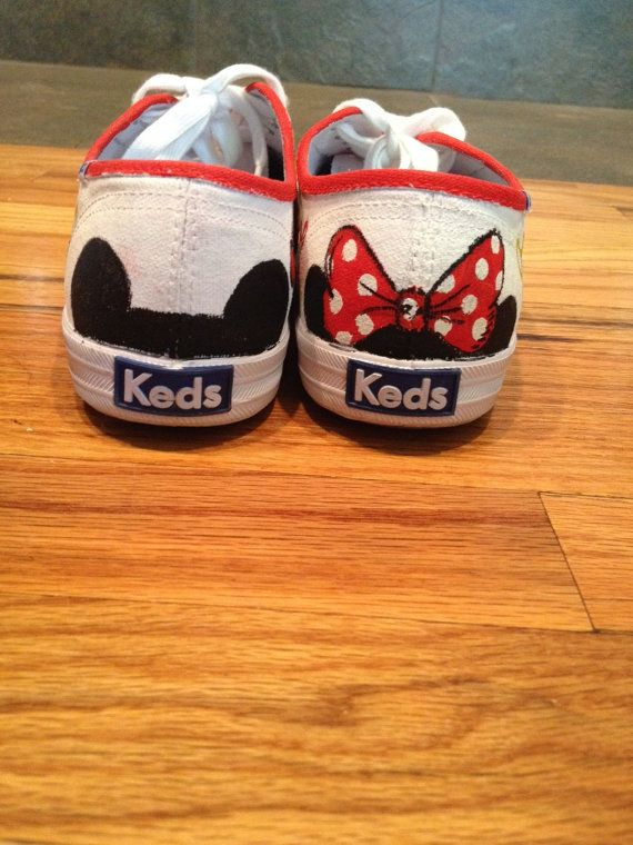 Mickey & Minnie Mouse Hand Painted Ked Style by CustomBows2Toes