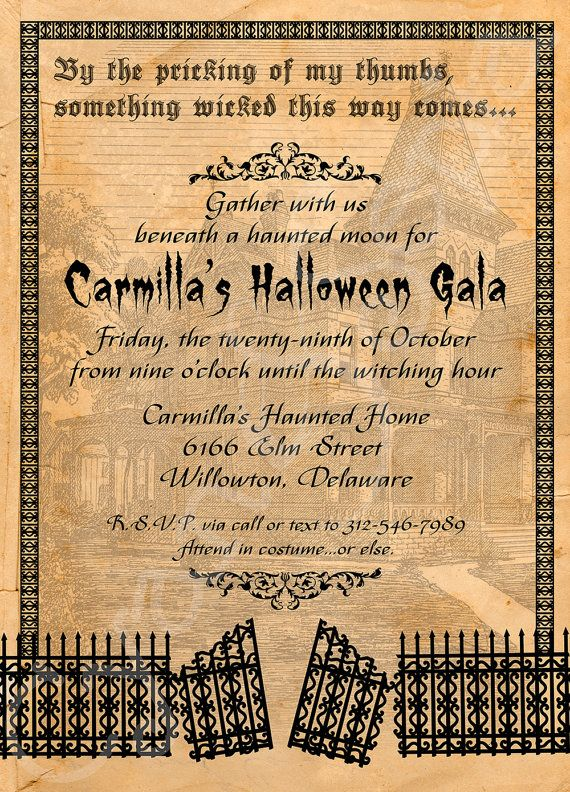 Free Printable Halloween Invitation Wording