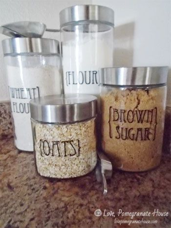 Custom Kitchen Canisters - Love, Pomegranate House