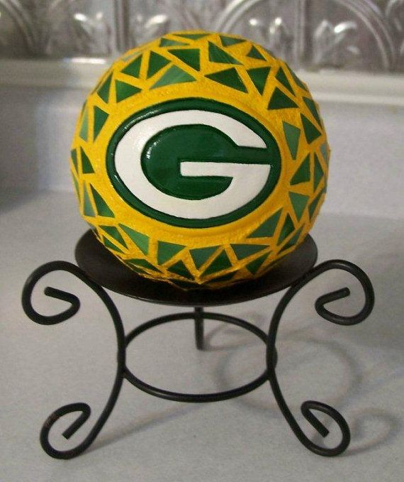 Green Bay Packer Stained Glass Mosaic Mini Gazing by RenegadeRose, $20.00