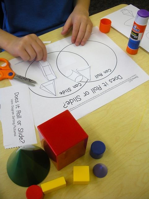 Learning about, sorting, drawing geometric solids