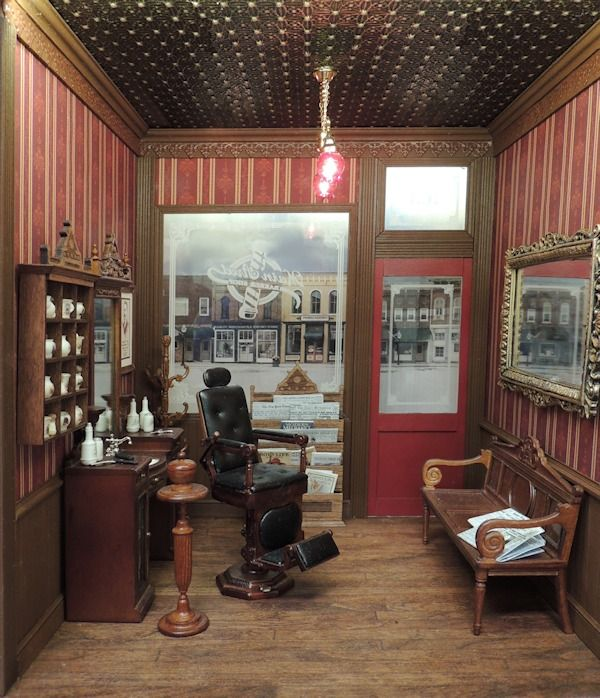 Main Street Barber Shop Online Project [oc-msbs] : Cynthia Howe Miniatures!, Your premier source for Dollhouse Miniatures, Miniature Classes, Miniature Dolls and Molds, Kits and Free Tutorials.