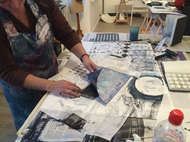 Monoprint has been by far the most requested subject for workshops this year so it seems right it was the subject of the final class of the ...