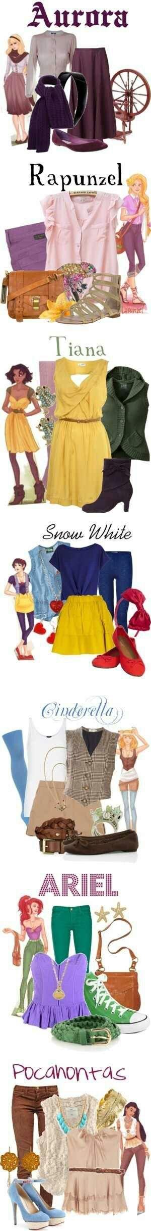 Disney Prinzessinnen Outfit's