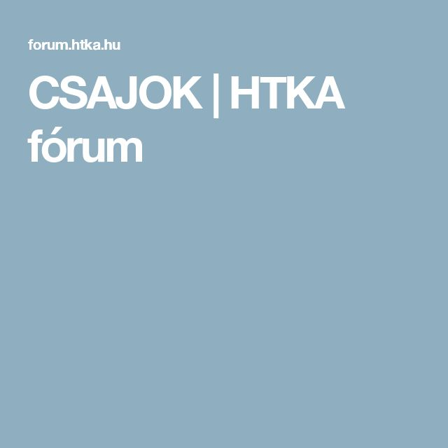 CSAJOK | HTKA fórum