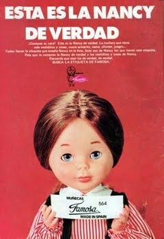 La Nancy de Famosa, probablemente la muñeca más famosa de los 70 en España.