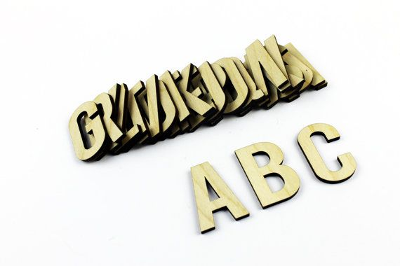 MEDIUM 26 Wooden Alphabet Letters / Wall Hanging / by JVKWOODWORK