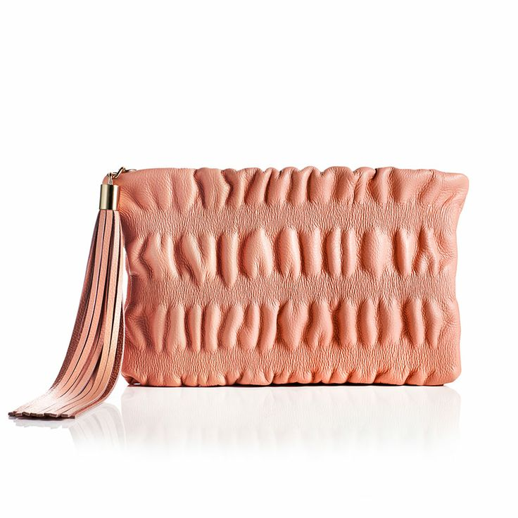 Jenny Bird Ruched Cocktail Clutch- Retail Price: $295 Special Offer: $200