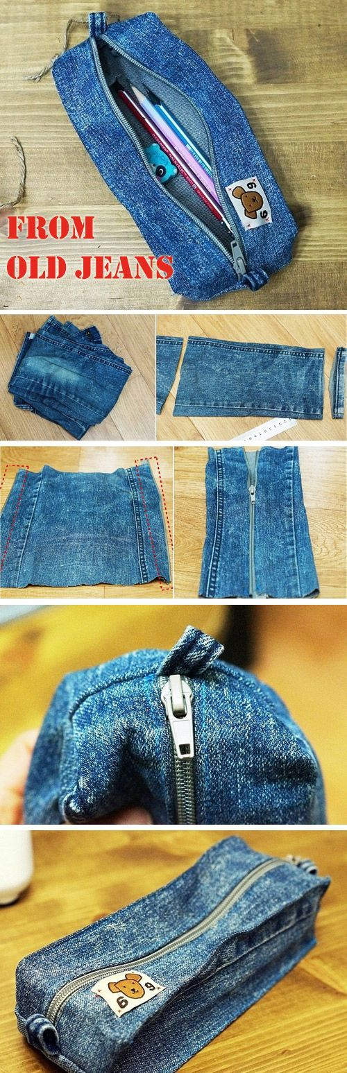 Cartuchera de jean http://www.handmadiya.com/2016/10/diy-denim-pencil-case.html