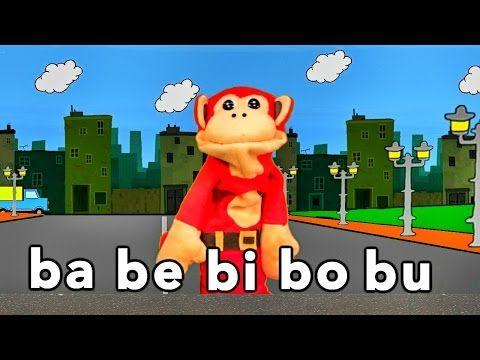 Sílabas ba be bi bo bu - El Mono Sílabo - Videos Infantiles - Educación para Niños # - YouTube