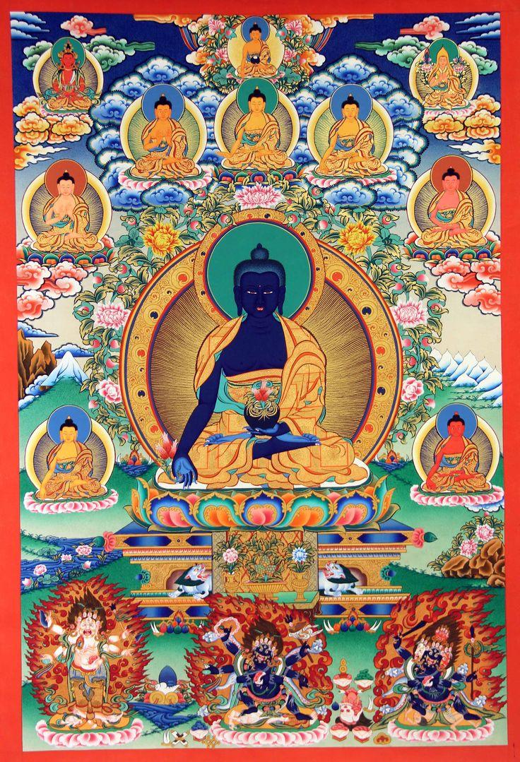 Tibetan Medicine Buddha Thangka