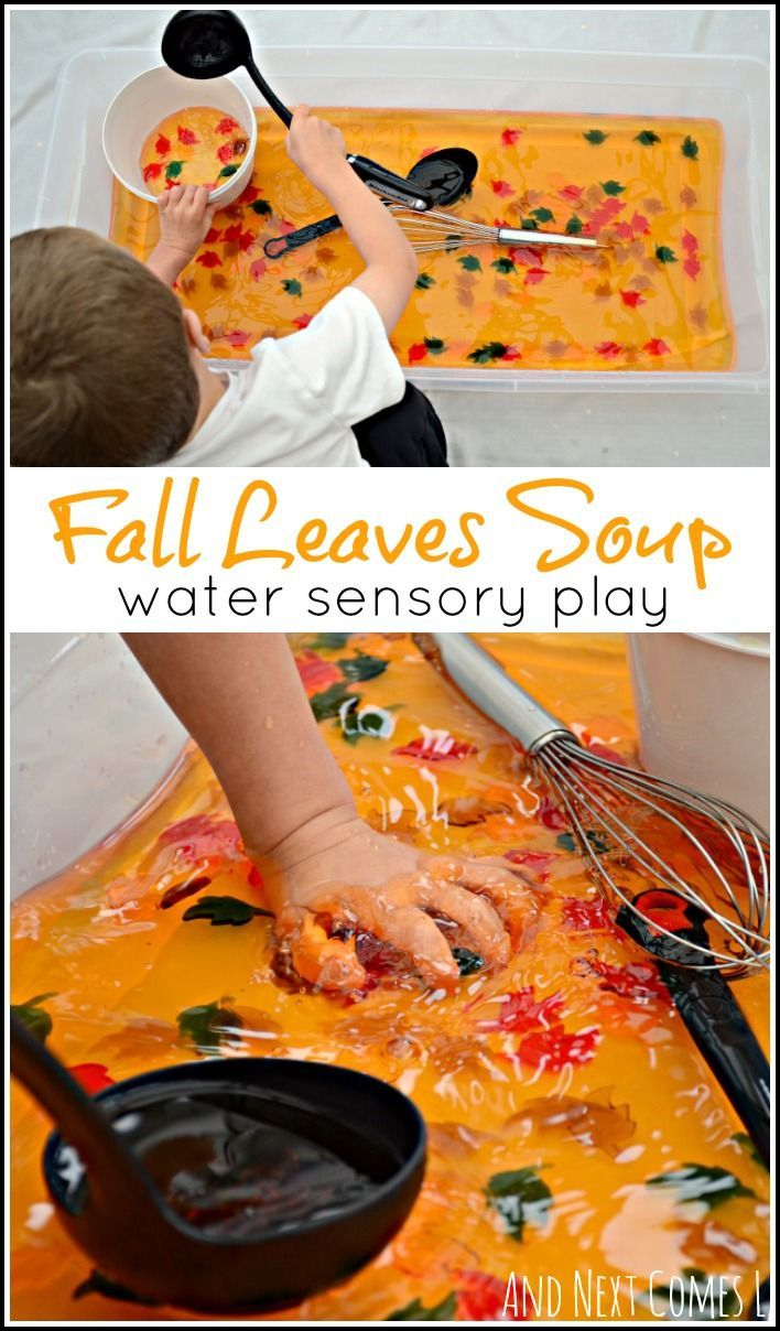 Fall leaves sensory soup: water sensory play for toddlers and preschoolers from…