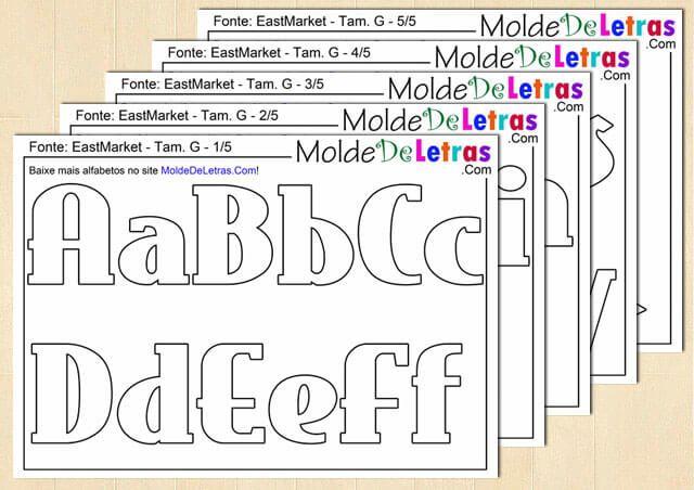 Molde de Letras e Números East Market - Blog Molde de Letras
