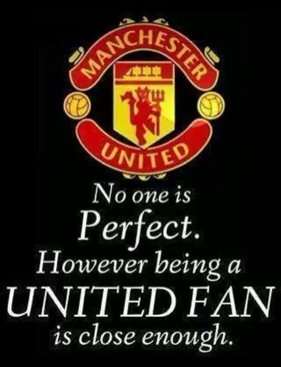 Manchester United, czyli nikt z nas nie jest idealny, ale bycie fanem Manchesteru United jest dość bliskie tego ideału • Zobacz mem #manchesterunited #manutd #memes #football #soccer #sports #sports #pilkanozna #futbol