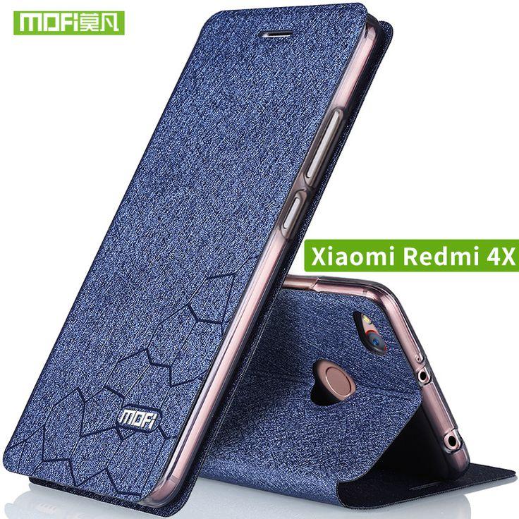 Buy  Xiaomi Redmi 4X Case cover Flip leather Xiami Redmi 4x Case Silicone TPU back Original MOFi redmi4x case hard metal 5.0 capas .....Please Click Link To Check Price