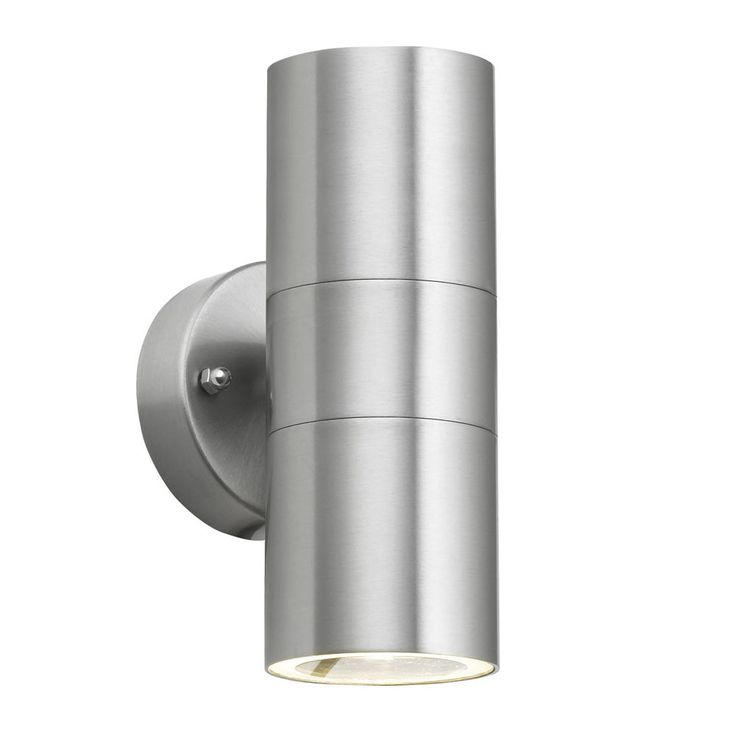 IP44 Modern Chrome Stainless Steel Outside Garden Up & Down Wall Light Lantern | eBay