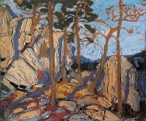 Pine Cleft Rock by Tom Thomson, associated with Group of 7