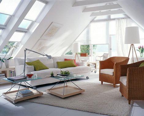 Attic Living Room Decorating Idea