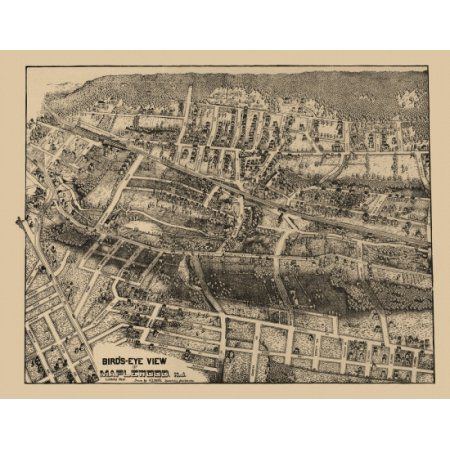 Antique Map of Maplewood New Jersey 1910 Essex County Canvas Art - (24 x 36)