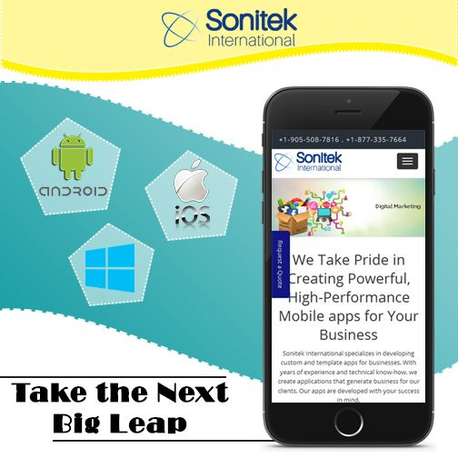 Contact the Leading Mobile App Developers for Android and iOS in Canada! Know more here: www.sonitek.ca  #iphoneapps #androidapps #windowapps #apps