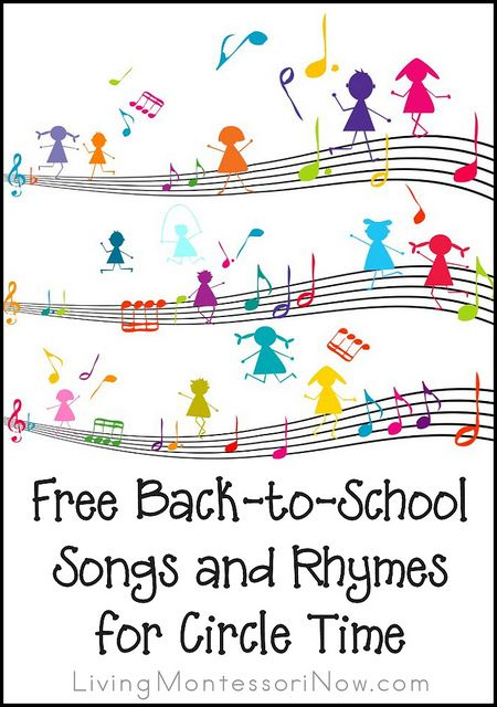 Fun song, rhyme, and fingerplay resources for home or school circle time at any time of the year (especially helpful at the beginning of the school year)