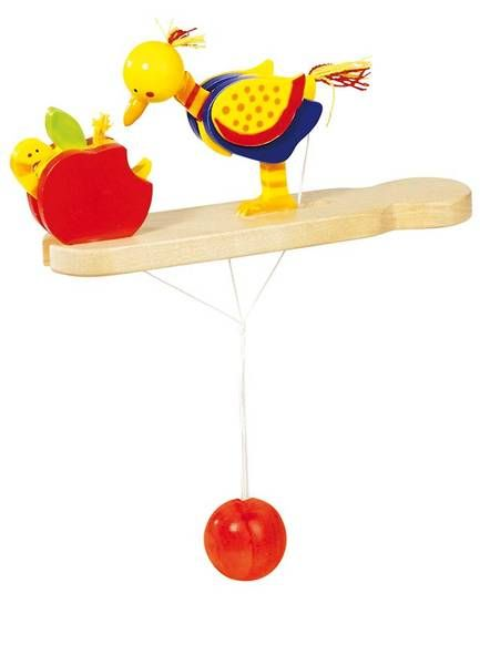 Natural and high quality toys to the development of the skills of children. The pecking-bird is good for fine motor skills