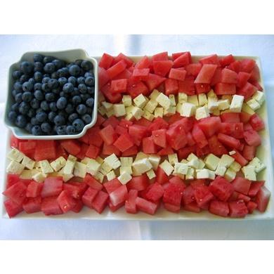 Patriotic Watermelon & Feta Flag