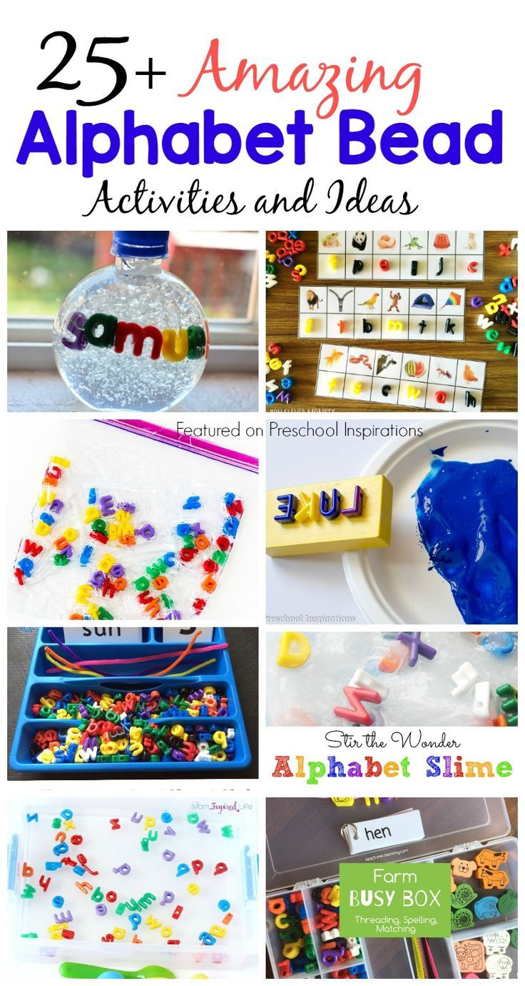 "Here are 25+ inviting alphabet activities with my all-time favorite alphabet beads! You may have seen them floating around Pinterest or on Facebook, and I am glad that I am not the only educator and mom who loves to throw them into activities on a regular basis! My children and I have ""ooohed"" and ""ahhhhed""View Post"
