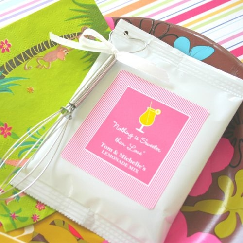 Personalized Lemonade Wedding Favor by Beau-coup