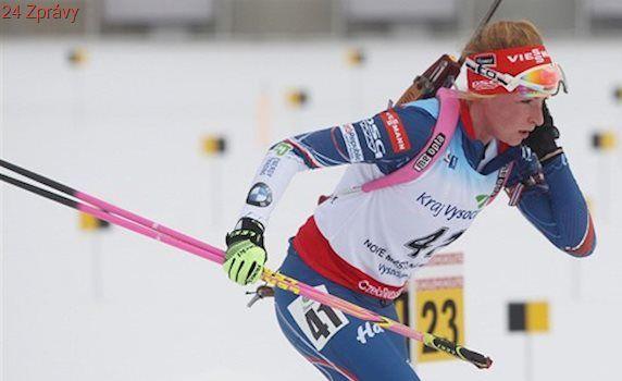 Biatlonové juniory ničí na MS chřipka, Žemlička přesto v desítce