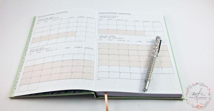 La inceput se gasesc tot felul de tabele pentru organizarea intregului an scolar: structura anului universitar, orare pe semestre, materile pe care le vei studia, programarea examenelor in sesiune. Din punctul meu de vedere este unul dintre cele mai importante si utile tabele.
