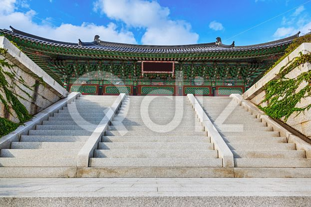 Qdiz Stock Photos | Traditional architecture old building palace in Korea,  #ancient #antique #architecture #asia #asian #autumn #building #culture #day #green #house #Korea #korean #monk #old #palace #sky #South #stairs #temple #traditional #tree