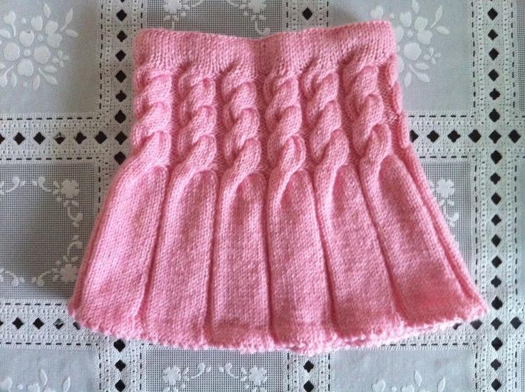 Knitting Skirt For Baby : Hand knit baby skirt pink toddler girl
