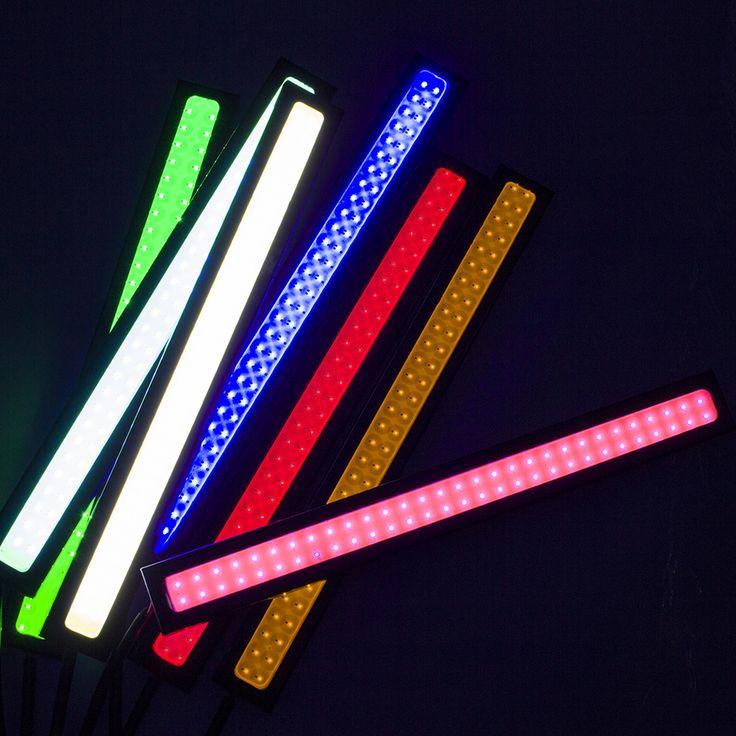 2 UNIDS/1 par 100% A Prueba de agua Ultra-delgado 20 W COB Chip LED de Conducción Diurna luz DIY LED DRL Luces de Niebla Del Coche Del Día Del Coche LightsAH