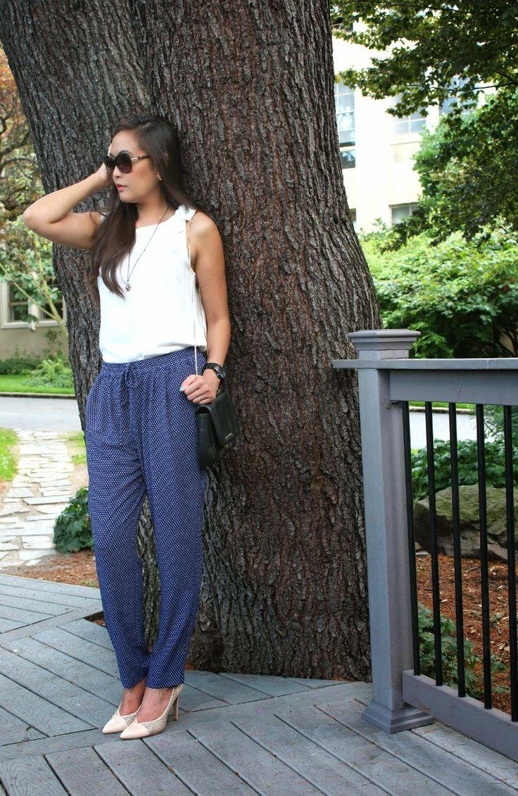 MY SININA: polka dot loose pants