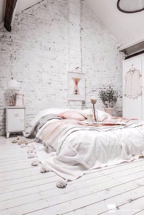 white, bedroom, rose gold, decor, copper