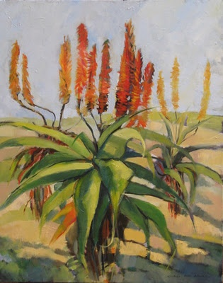 Aloes - oil on canvas