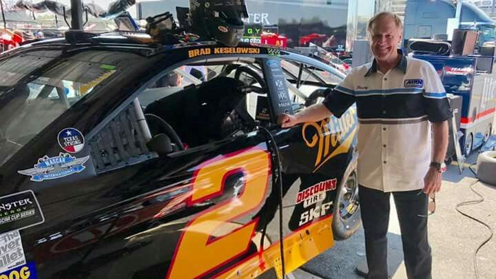 Rusty Wallace with Brad's car in Rusty's paint scheme