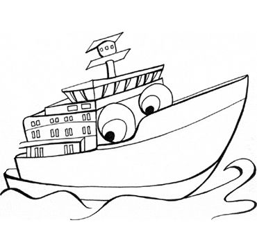 ferry coloring page
