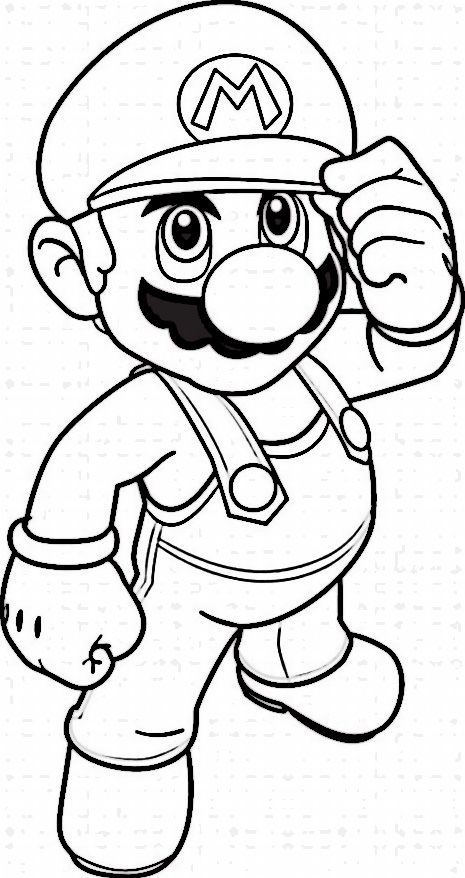 Dibujos para Colorear Mario Bross 1