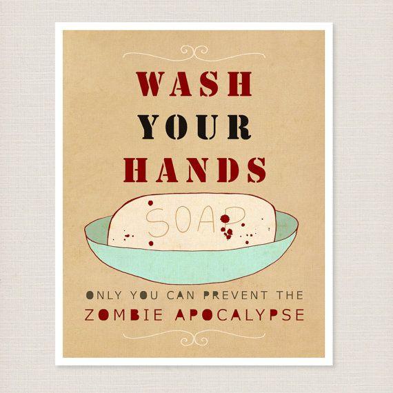 Zombie Bathroom Signs 23 best zombie bathroom ideas images on pinterest | bathroom ideas