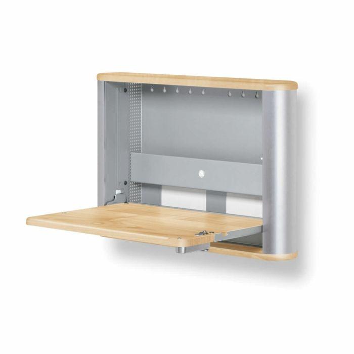 kleines Home Office einrichten Laptoptisch an der Wand | Möbel ...
