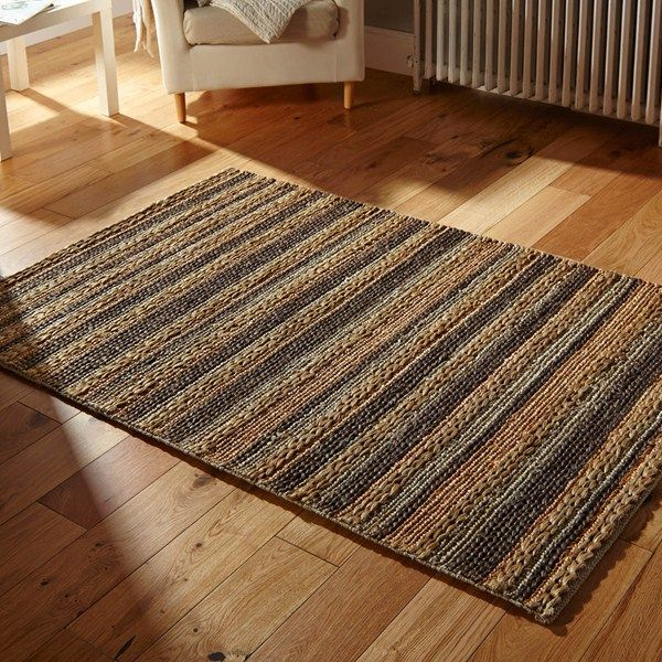 Crestwood Jute Rugs in Charcoal