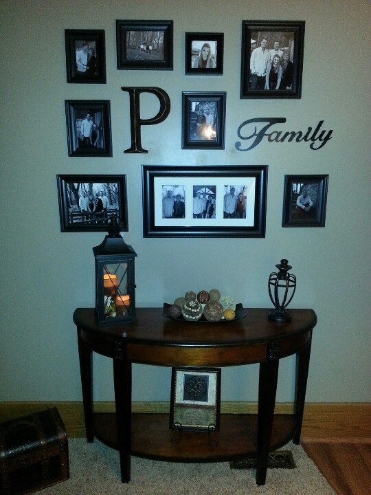 family picture wall design!
