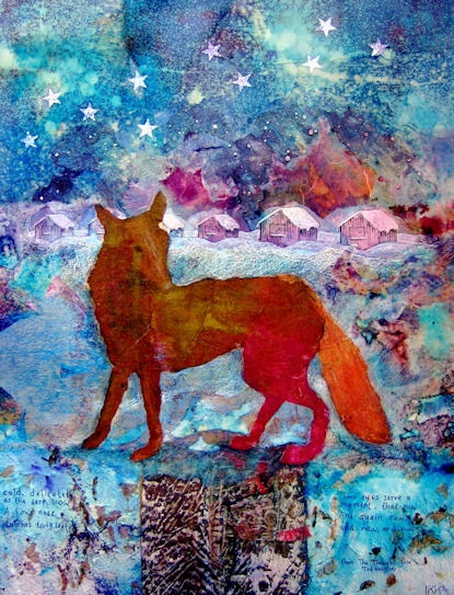 The Thought Fox by Ingrid Karlsson Kemp                              The  Thought Fox was inspired by the famous poem with the same name by Ted Hughes. It had lived in my imagination for quite some time and when it came to fruition gave me an opportunity to also talk about the magic winters of my Northern Swedish childhood.
