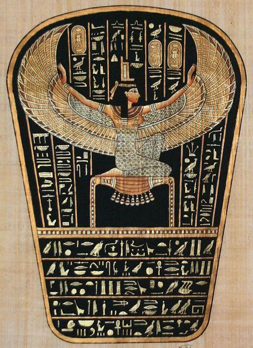 isis egyptian goddess | Egyptian Goddess Hathor and Pharaoh Ramses II